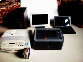 All in just 18000 includes Laptop, Desktop computer, Printer Excellent