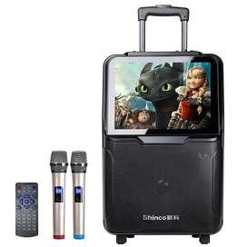 DJDance Audio Video Mobile Portable Bluetooth Trolley Speaker K-Karaok