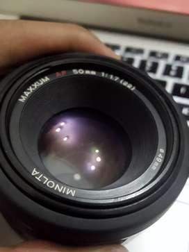 Lensa Minolta AF 50mm f1.7 RS Version