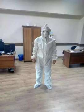 Surgical full suit cover and mask availble