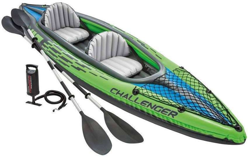 Intex Boat Challenger K One Person Inflatable with Paddle and Pump 0