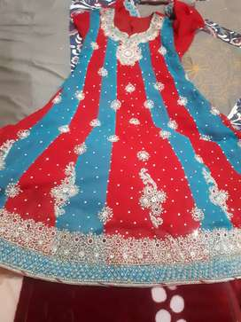 heavy work frok and dupatta