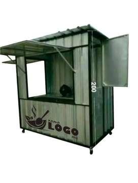 cuma hari ini,KREDIT 6bln franchise es kopi kekinian container booth