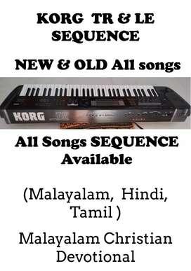 Korg Tr & Le All songs sequence available, ഏതൊരു സോങിനും ബന്ധപെടുക