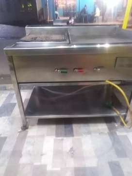 Hot plate and grill