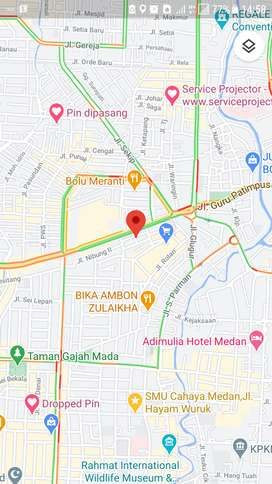 Ruko Kost 3 Lantai 15 Kamar Petisah Medan Dijual