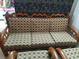 Teak(saag) wood sofa set (3+1+1)