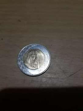Mata uang koin, Arab Saudi, 2 Riyals,gambar Raja Salman