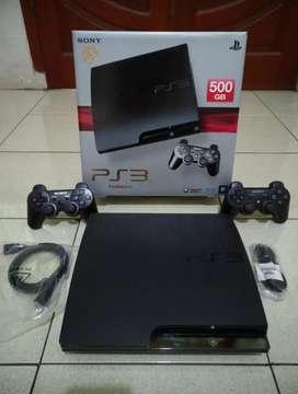 PS3 SLIM 500GB Mantuul juragan terisi 50 game fullset 2 Stick lkp