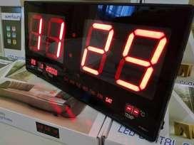 Jam Dinding Digital LED Meja LED Clock 4622-1 Merah ID83