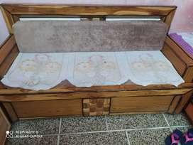 Sofa cum bed (made with Sagwann wood)