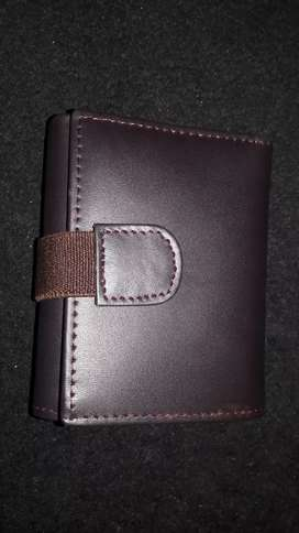 New Pure leather triple flap wallet