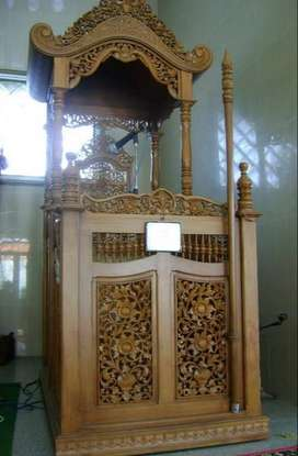 mimbar masjid kubah full ikir mewah