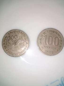 Dijual uang koin kuno indonesia 100 rupiah