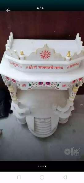 Fully marble mandir
