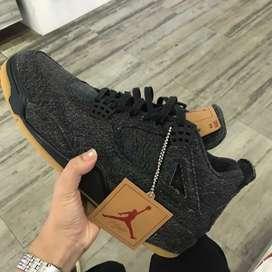 Nike Air Jordan 4 black levis 100% Original