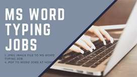 MS Word Typing Jobs, Trusted Company