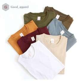 Kaos Polos & Kaos Oblong Grosir Paling Murah Cotton Combed 24s, Tebal
