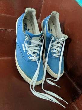 Puma Canvas Blue Shoes (Size: UK 8/US 9)