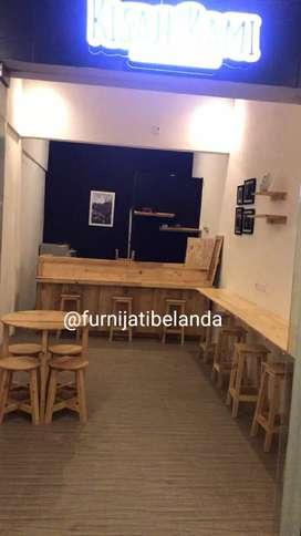 Meja,Kursi,Meja bar untuk usaha cafe/warkop/kedai/pujasera