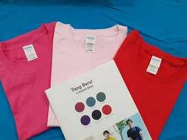 Ready Kaos Polos Gildan Softstyle Warna Heliconia, Light Pink, dan Red