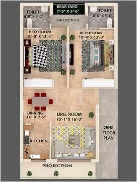 Balaji Homes G+2 2bhk flat
