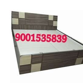 New full size wooden bed wooden double bed with 6x6 storage box