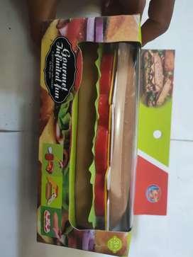 Mainan anak gourmet burger lucu