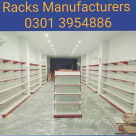 Steel racks for departmental stores