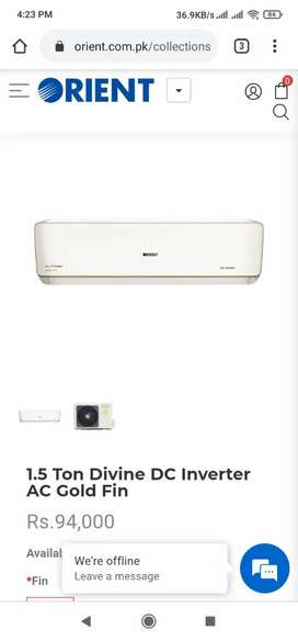 Orient DC inverter new model available 80%electercity saving