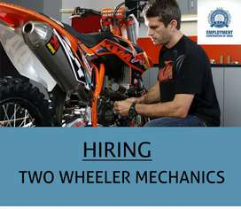 TWO WHEELER MECHANICS  (MALE)