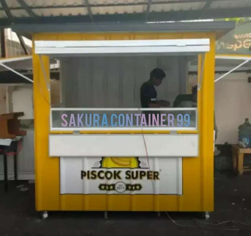 Booth container/container bazzar/container pisang coklat/container 0