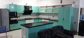 green L- shap kitchen ktc-706_13psqft