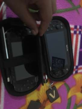 Playstation vita with psp 128 gb memory card sd2vita with henkaku