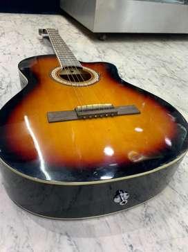 Pluto 39C guitar (black, natural, and sunburn)