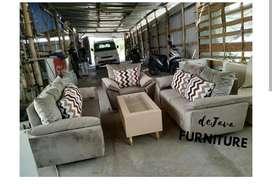 Sofa tamu sandaran dacron