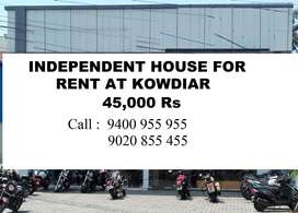 Independent House Rent 45000 Rs  Kowdiar