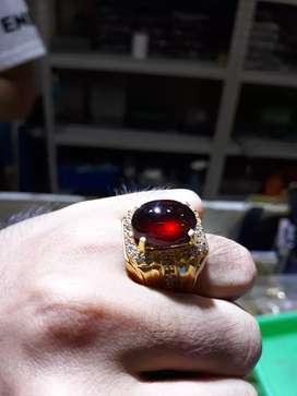 Batu Red Garnet Natural Pyrope Garnet Giwang Titik BUKAN Ruby Burma