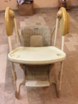 High chair plus auto swing