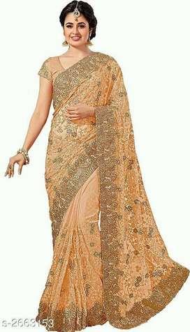 Vanya Trendy Net Embroidered Sarees Vol 5