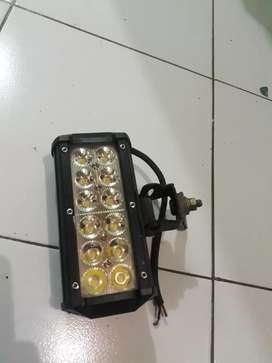 Lampu Tembak Sorot LED Bar CREE Motor 12 Titik Mata Dua Susun