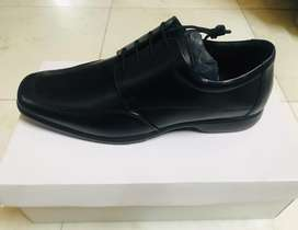Italian style black leather men shoes
