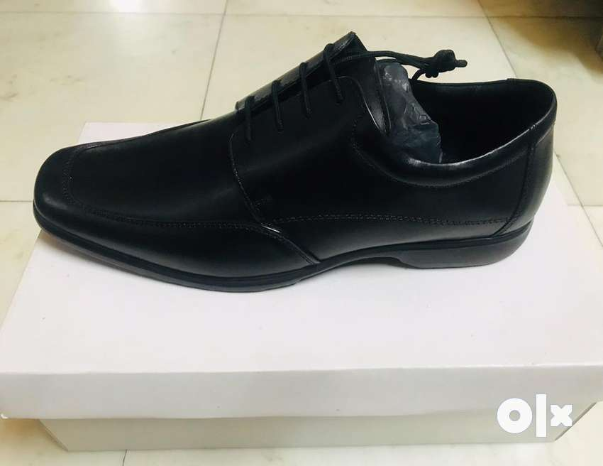 Italian style black leather men shoes 0