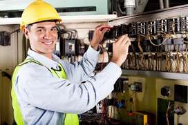 All electric work and plumbing work