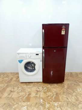 Samsung double door 250 litre  & LG 5.5 kg front load fully automatic