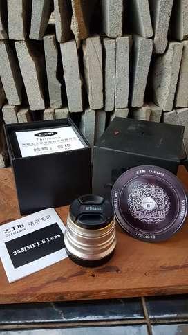 Lensa 7artisans EOS M 25mm F1.8 Like New