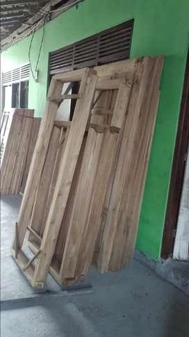Jual kusen pintu kayu jati
