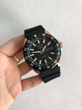 Jam Tangan Alexandre Christie Original Tali karet Model Diver