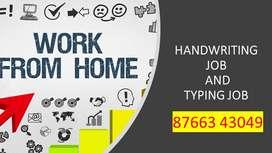 HANDWRITING JOB (part time job)-TYPING JOB