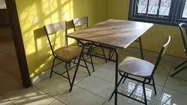 Meja dan Kursi premium ex Restoran  - baru 7 bulan pakai